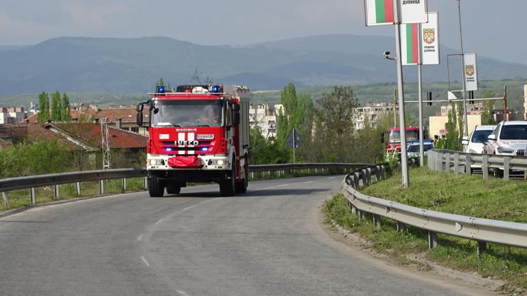 Пожар горя в центъра на София