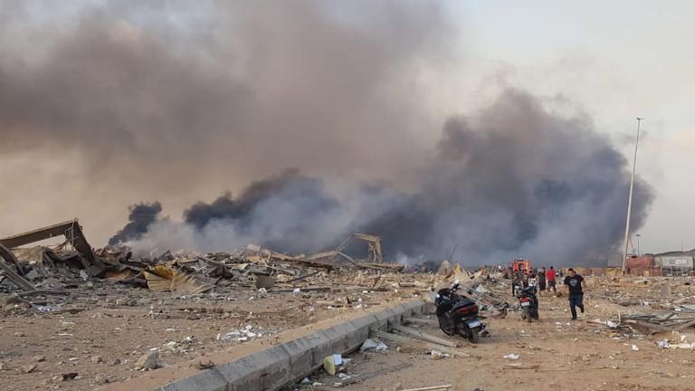 Мощна експлозия в Бейрут рани десетки (ВИДЕО)