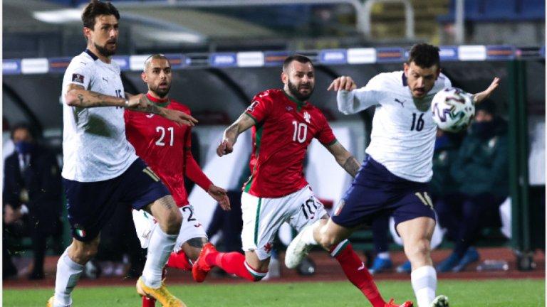 България падна от Италия с 0:2 със спорна дузпа